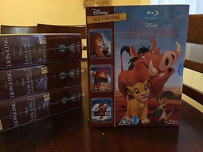 The Lion King Trilogy All 1 2 3 Movies On Blu-Ray - Brand New! Ships from USA