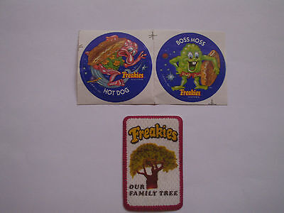 Freakies 1970's Lot Of 3 Stickers And Freakies Patch Rare