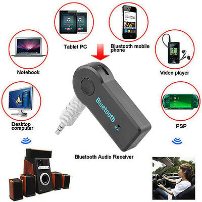 Wireless Bluetooth 3.5mm AUX Audio Stereo Music FM Transmitter  Adapter Receiver