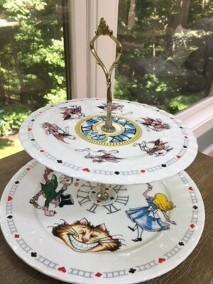 Paul Cardew Alice in Wonderland Mad Hatter Two Tier Tea Sandwich Cake Stand