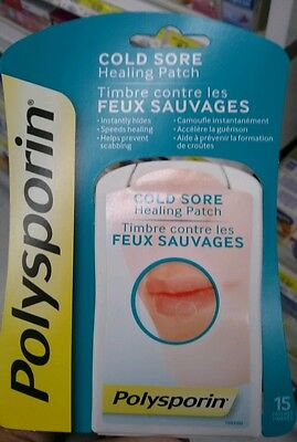 Polysporin Cold Sore Healing Patch 2 Boxes of 15