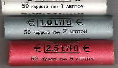 L@@K COLLECTION!!! EURO GREECE 5-10 CENTS UNC.FRESH FROM ROLLS!! 1-2