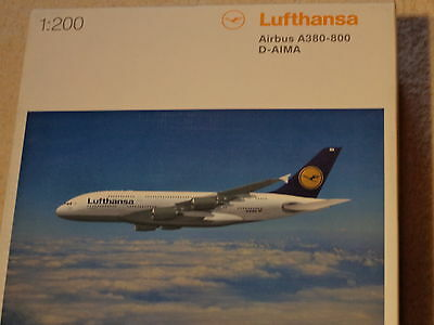 Herpa Wings  - Lufthansa A380-800 Scale 1:200 Airplane Model  - D-Aima