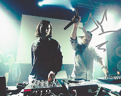 ZEDS DEAD EDM ELECTRONIC DUO SIGNED AUTHENTIC 8X10 PHOTO B w/COA CANADIAN
