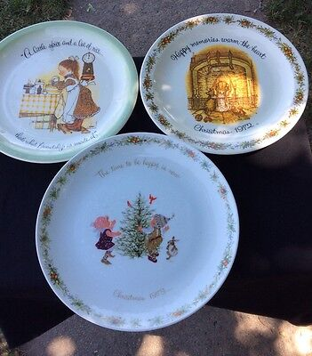 Vintage Holly Hobbie Collector Plates