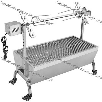 Stainless Steel Goat Pig Chicken BBQ Spit Rotisserie Roaster w/ Electric Motor