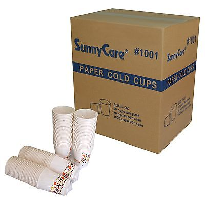 #1001 SunnyCare 5 oz Cold Paper Cups (Case of 1000 ; 50cups/bags,20bags/Case)
