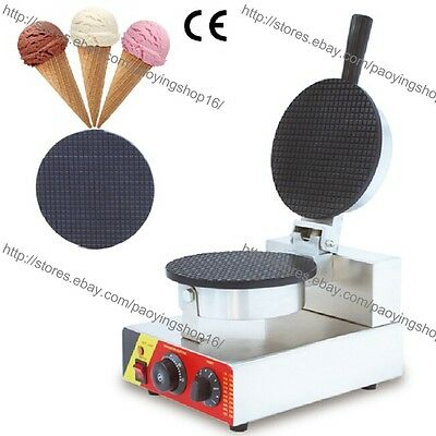 Commercial 110v 220v Electric Nonstick Ice Cream Waffle Cone Baker Maker Machine