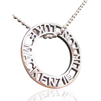 Personalised sterling silver stencil Men's jewellery Pendant by Coolabah Charms
