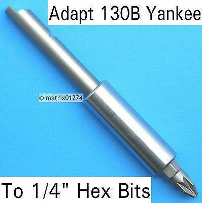 """130A & 130B Stanley Yankee Screwdriver Magnetic Adapter to 1/4"""" Hexagon Bit"""