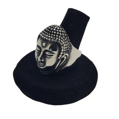 Buddha Ring NEW Tibet Indian Asian Style Mens Womens Silver Stainless Steel