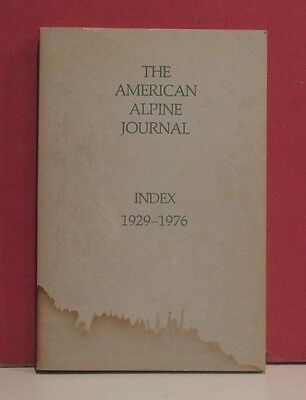 The American Alpine Journal - Index 1929 - 1976