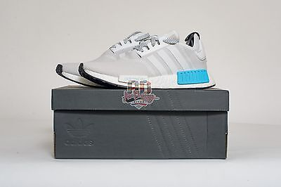 Adidas GS NMD Nomad S80207 N1 J RUNNER White Turquoise Blue Black 3.5-7y kids