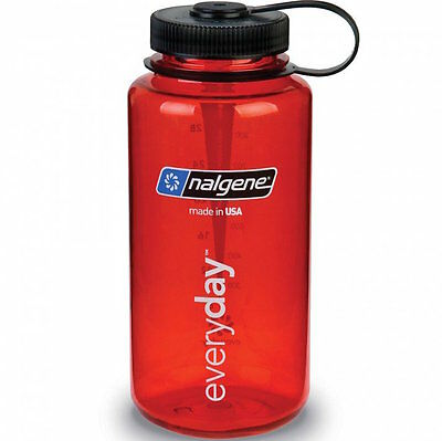 Nalgene Wide Mouth 1L Red Watter Bottle Trinkflasche