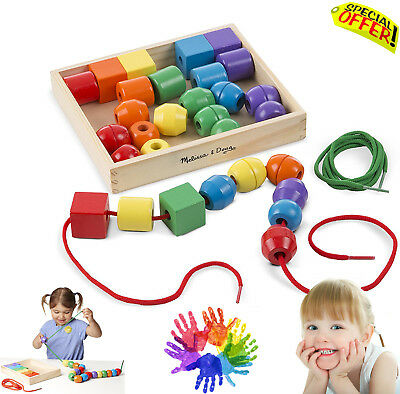 Autism Sensory Toys Lacing Beads Educational Special Need Wooden Learning BoxSet