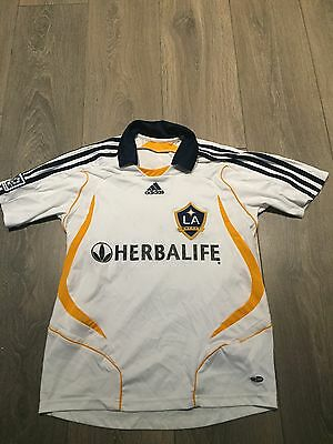 LA Galaxy Home Shirt 2007/08 Beckham 23 Official 30/32 Chest Rare