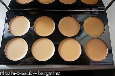 makeup revolution cover & conceal palette light-medium cream concealer palette
