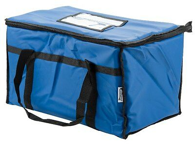 Insulated Nylon Food Delivery Bag Pan Hot Cold Carrier Restaurant Blue New