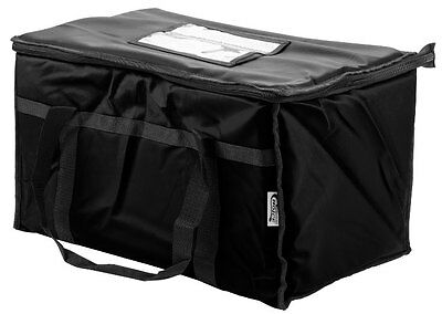 Insulated Nylon Food Delivery Bag Pan Hot Cold Carrier Restaurant Black New