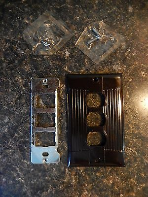 Rare Eagle 3 Position Despard Switch Plate/Cover Tuxedo Style ~ Fast Free Ship!