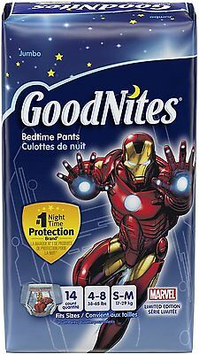 Goodnites Youth Underpants for Boys, Kimberly Clark, Small/Medium 14 count