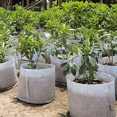 7Sizes Gardening Round Fabric Pots Plant Pouch Root Container Grow Non-woven Bag