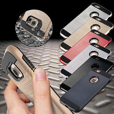 For iPhone 11 Pro 11 XS Max XR 8 7 6s Shockproof Rugged Brushed Armor Case Cover