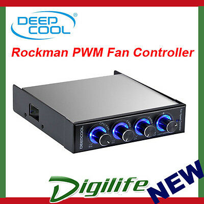 DeepCool Rockman PWM Case Fan Controller Control Panel for 3.5 inch Floppy
