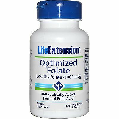 Life Extension, Optimized Folate (Folsäure als L-Methylfolat), 100 V-Tabl.