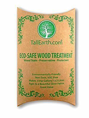 ECO-SAFE Wood Treatment - Stain & Preservative by Tall Earth - 1/3/5 Gallon