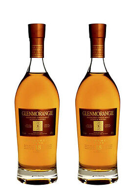 Glenmorangie 18 Year Extremely Rare Single Malt Scotch Whisky 700ml *2 Bottles