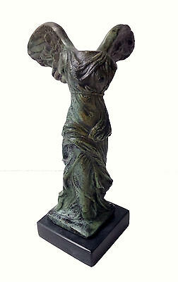 Nike Ancient Greek Winged Victory of Samothrace bronze statue artifact • CAD $371.12