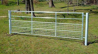 Half Mesh Galvanised Field Farm Entrance Security Gate Dog Lamb Safe 3ft-12ft