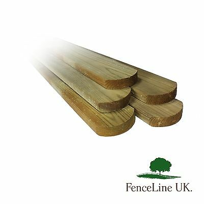 20 Pack Of Treated Picket Pales Round Top Garden Fencing 70mm Wide 0.9m 3ft long