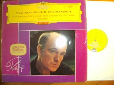 S. RICHTER Piano Rachmaninoff Orig. 1ED DGG 138076 RED STEREO LP 1964