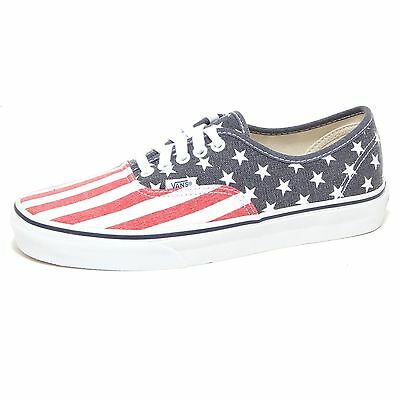 Details zu VANS SCHUHE AUTHENTIC US FLAGGE STARS & STRIPES WEISS BLAU ROT VVOEC7H AMERIKA