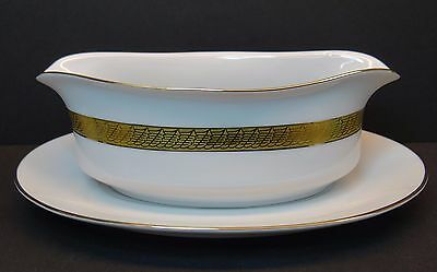 Centurion Collection 9414 Pure Gold Gravy Boat & Under Plate