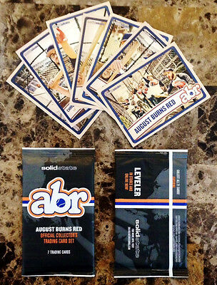 AUGUST BURNS RED Rescue & Restore Ltd Ed Collector Cards Set +FREE Rock Stickers