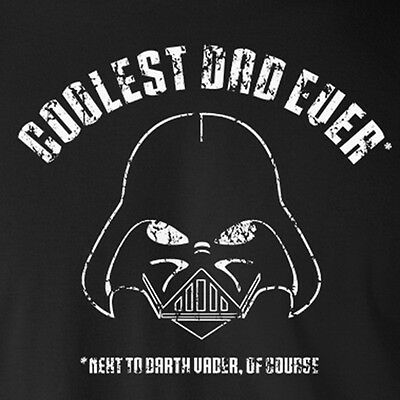 9803a1ad COOLEST DAD EVER NEXT TO DARTH VADER funny Star Wars mom father's day  T-Shirt