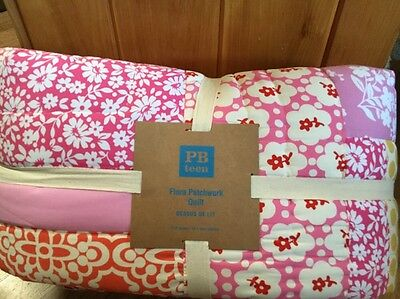 Pottery Barn Teen Flora Patchwork Quilt F/Q New