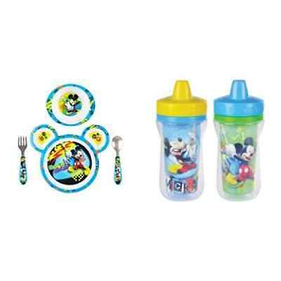 Baby Care Disney Baby Mickey Mouse Feeding Set with Sippy Cups
