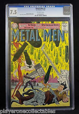 Metal Men #1 (DC, 1963) CGC VF- 7.5 Off-white pages.