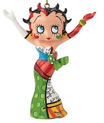 Betty Boop by Romero Britto Appeso Natale Statuina Ornamento 7.5cm 4046450
