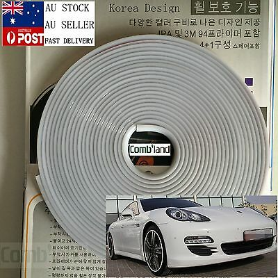 White 8M Car Wheel Rim Protector Tire Guard Rubber Moulding Adhesion Promoter