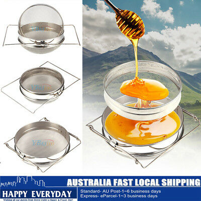 Stainless Steel Beekeeping Double Layer Honey Strainer Filter Tool Set Home AU