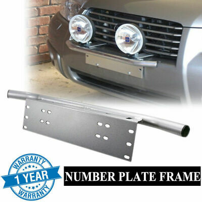 AU Ship Number Plate Bullbar Frame Driving Light Bar Car Mounting Bracket Silver