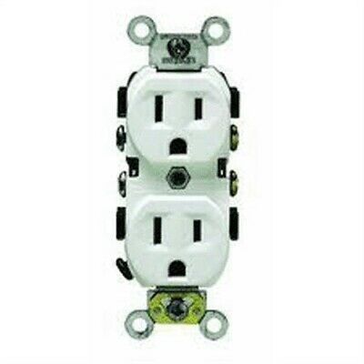 125V Grounded Duplex Outlet,No S02-CR15-0WS,  Leviton Mfg Co, 3PK