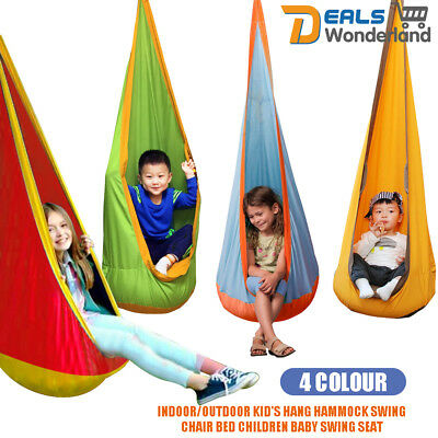 Outdoor Kid Baby Pod Swing Chair Reading Nook Tent Hanging Seat Hammock 3 Color