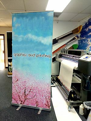 "Retractable Pull Up Banner Stands 33""x80"" - Printing Included"