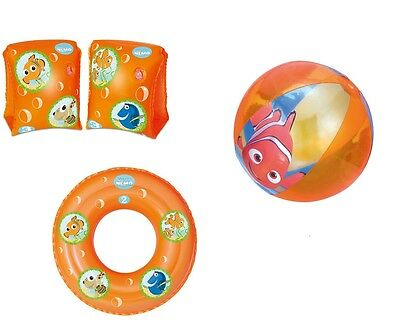 FINDING NEMO Inflatable Swim Ring Armbands Beach Ball Summer Holiday Pool ORANGE